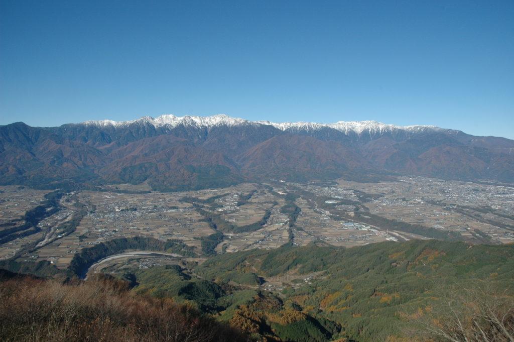 中川村陣馬形山からの眺望
